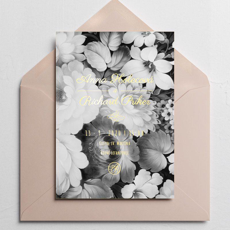 oznamenie vintage kvety s obálkou