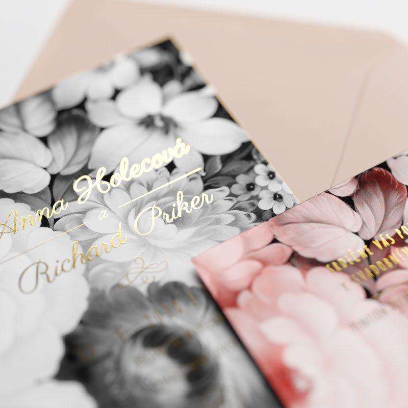 oznámenie a pozvanie vintage v detaile