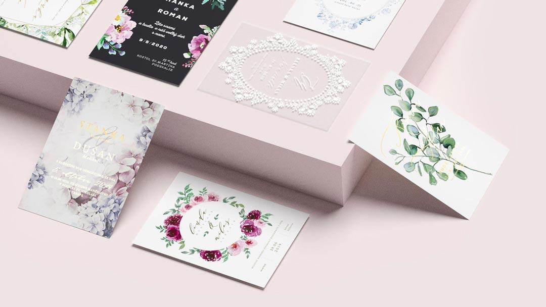 nová kolekcia svadobných oznámení