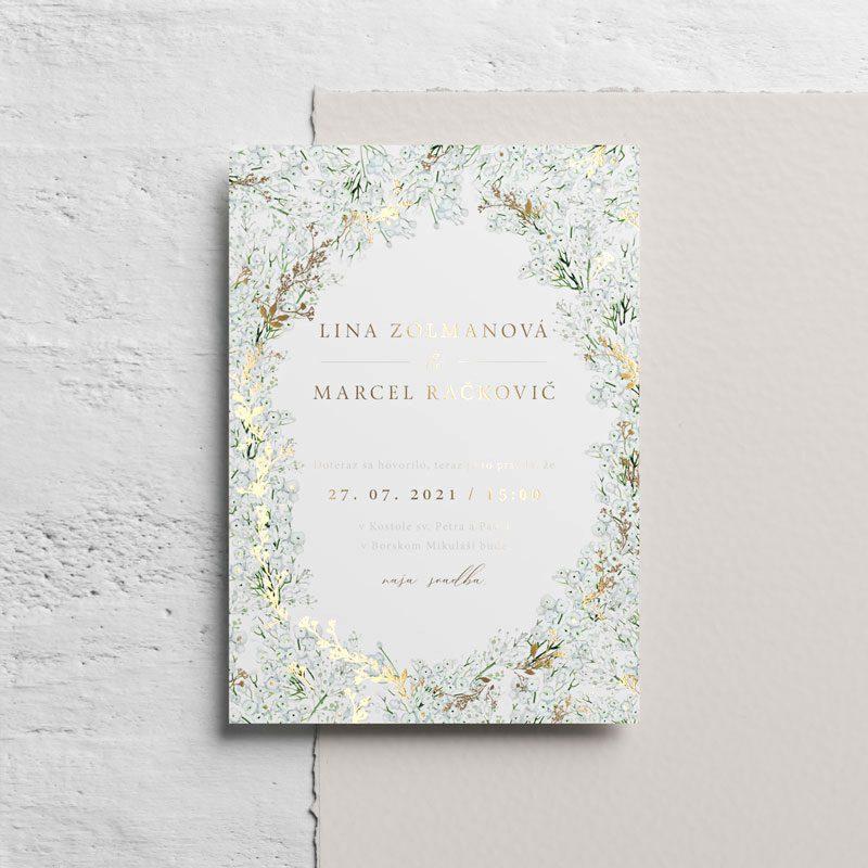gypsomilka svadobné oznámenie